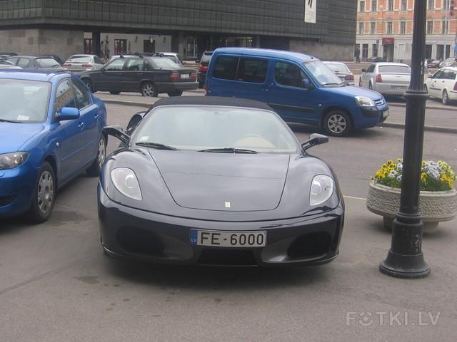 latvian car ferari f430