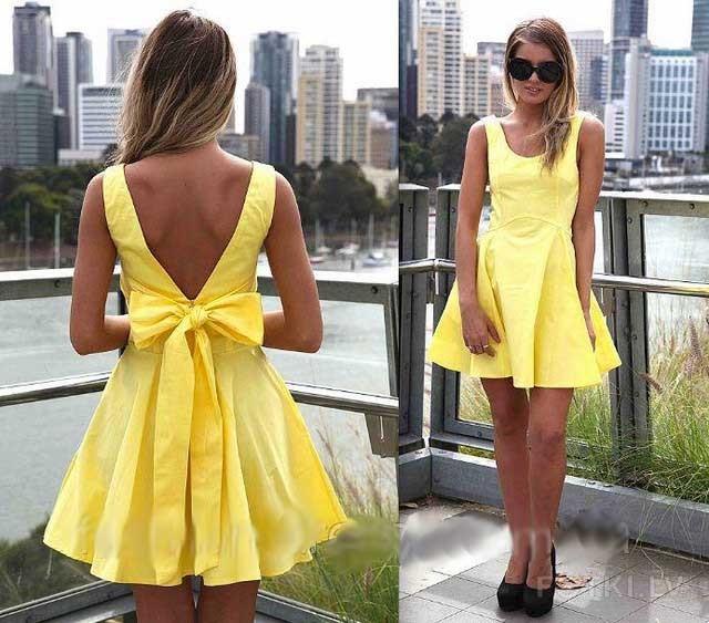 Короткие летние платья с открытой спиной