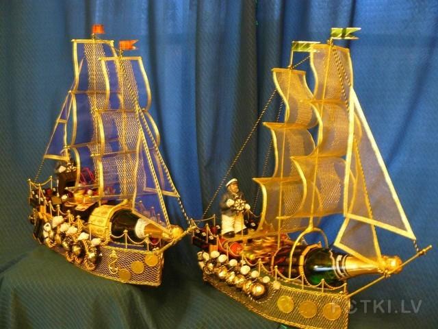 Кораблики из конфет пошаговое фото