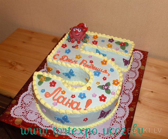 Торт в виде 5 своими руками