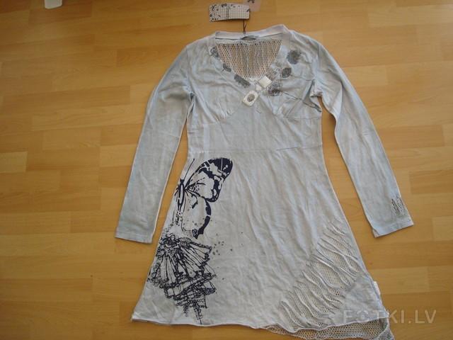 р. М Платье-туника, серо-голубого цвета - 6,00 Ls