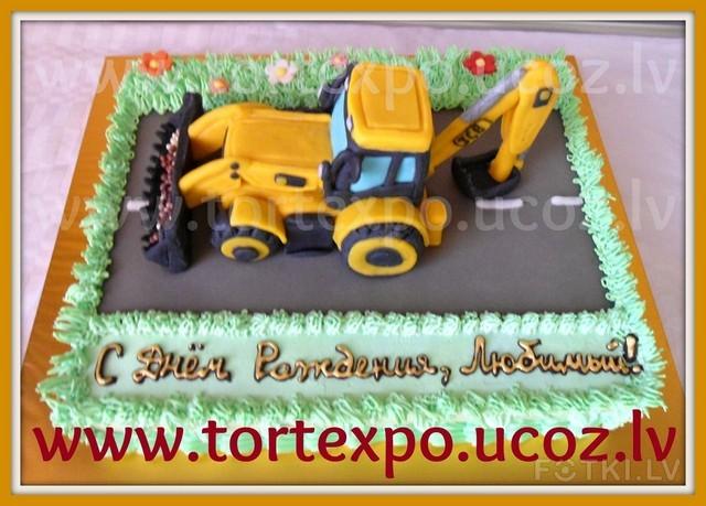 Как из торта сделать трактор