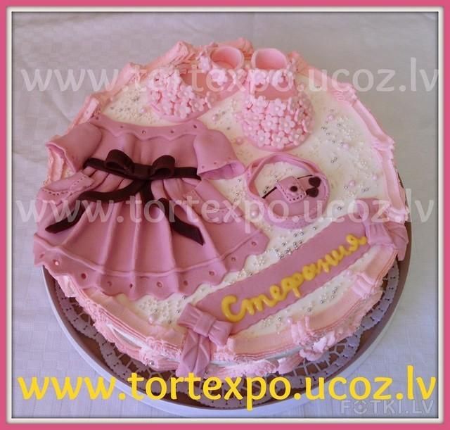 Торт для девочки с платьем