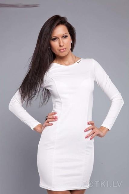 Белые платья с трикотажа