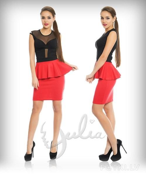 Купить Платье Черный Верх Красный Низ