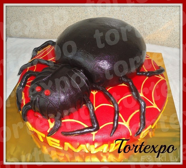 Как сделать паук для торта 141