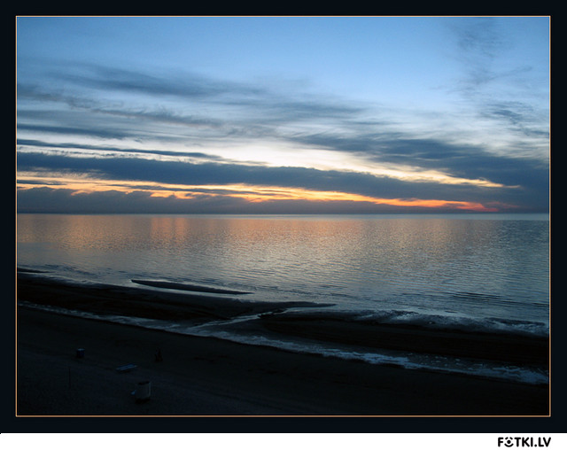 Baltic Beach Sunset