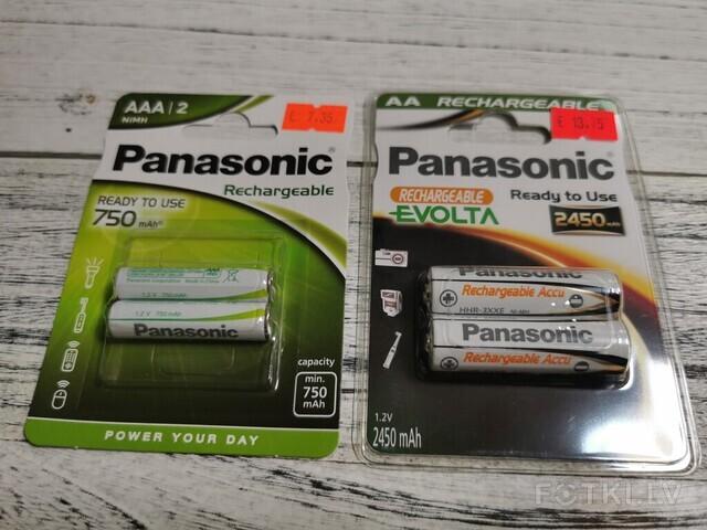uzlādējamās baterijas A2(2450mAH) un AAA(750mAH)