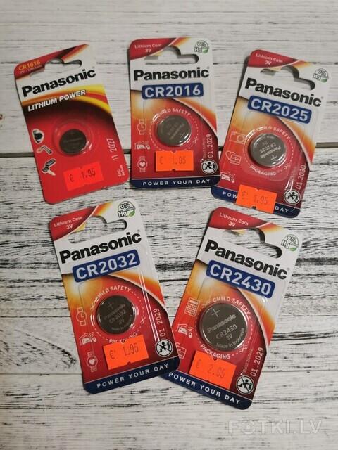 Baterijas CR1616 , CR2016, CR2025, CR2032, CR2430
