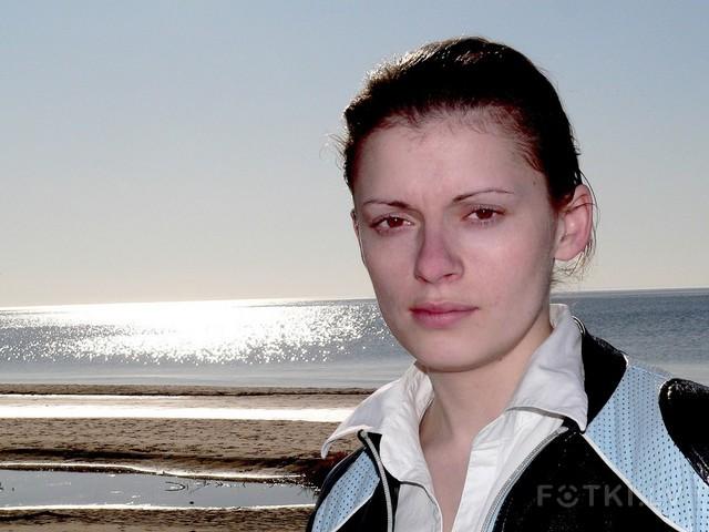 портрет на фоне горизонта