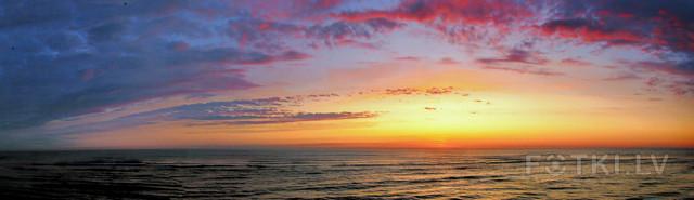 За 5 минут до восхода Солнца