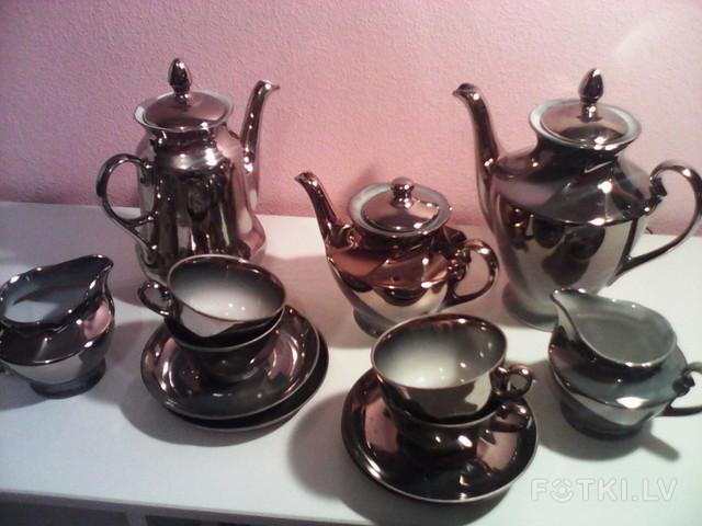 сервиз чайно-кофейн, 4 перс, 13 предм, Рига,15 евро, фото3