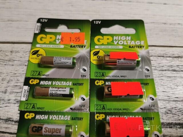 Baterijas 23A un 27A