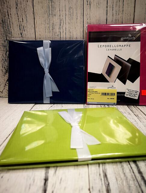Albumi 10 bildēm (roza, tumsi zila, zaļa krāsa), Cena 8,00 EUR